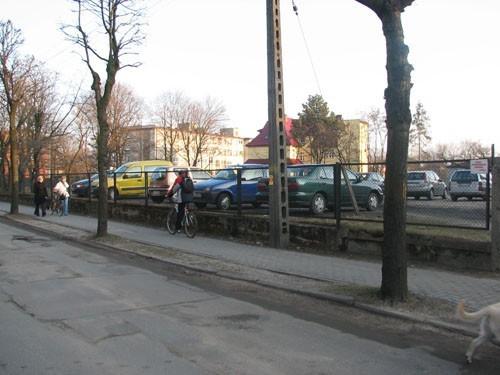 Nowa działka jest wykorzystywana jako parking