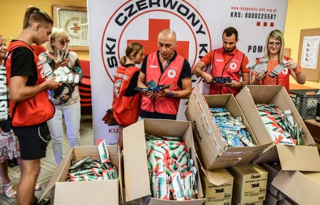 W bydgoskiej siedzibie oddziału regionalnego PCK pojawiła się kolejna partia darów od sponsora