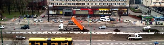 Modernizacja torów na alei Korfantego w Katowicach